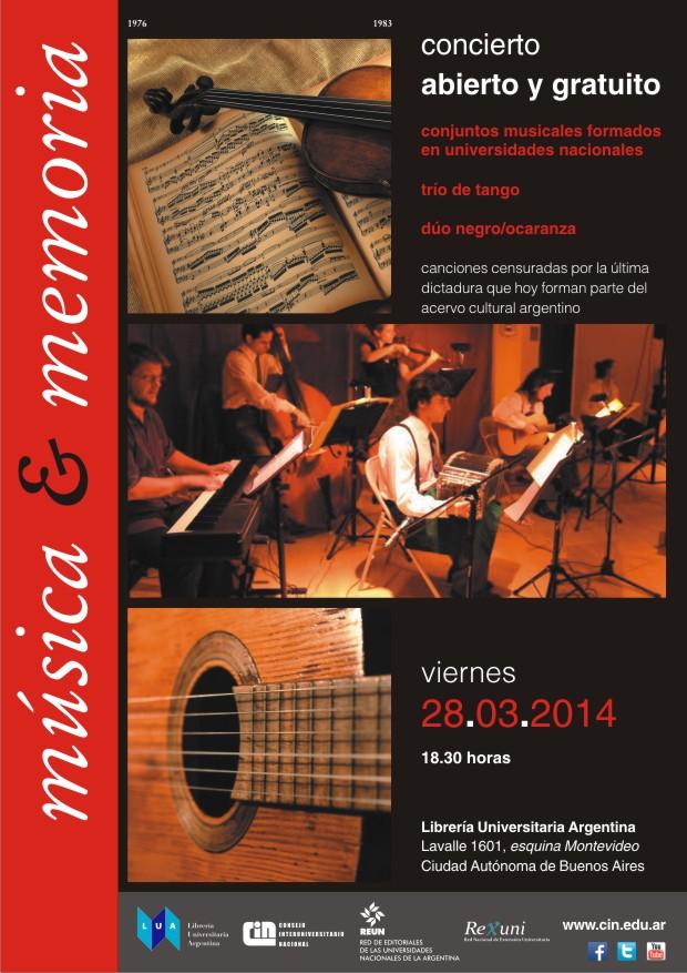 afiche música y memoria