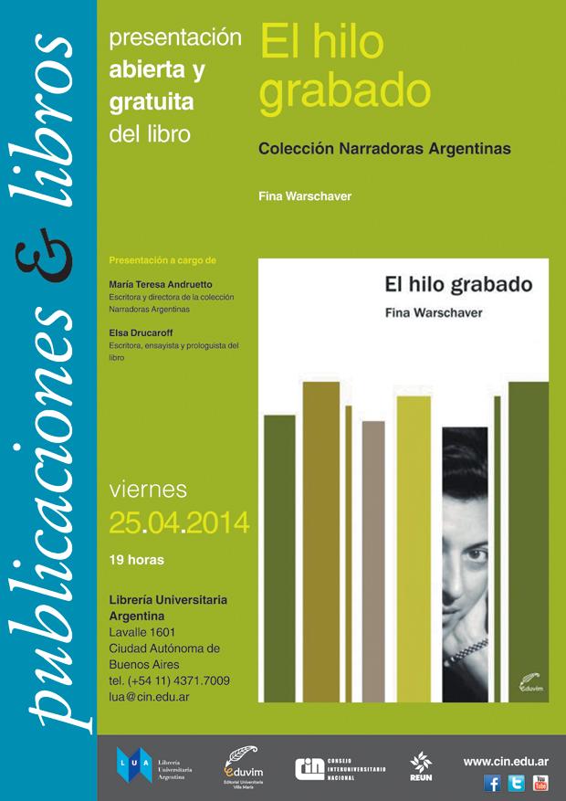 afiche libro El hilo grabado