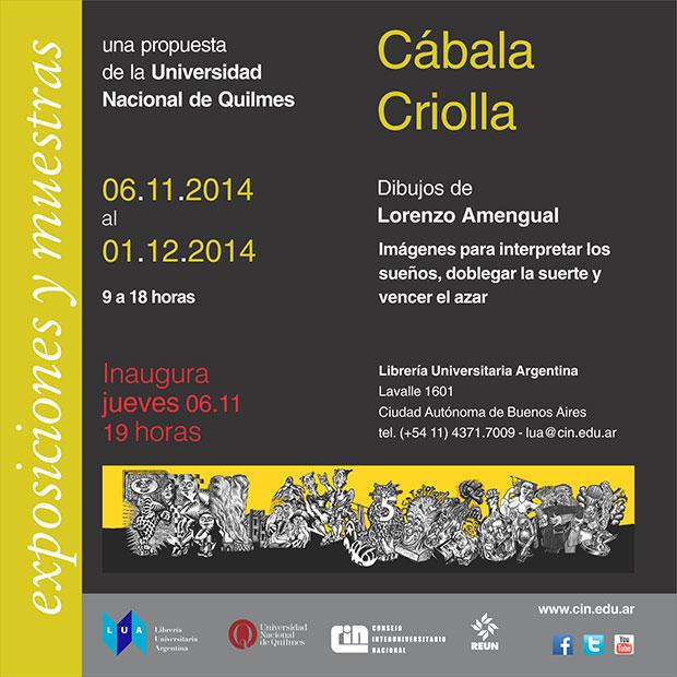 invitación-muestra-Cábala-Criolla