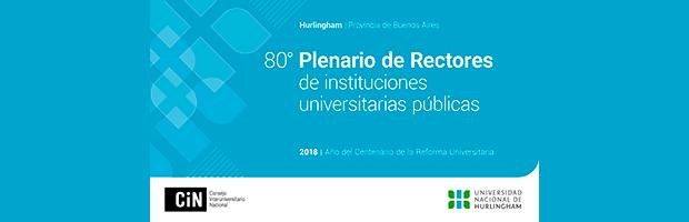 Plenario de Rectores en Hurlingham, Buenos Aires
