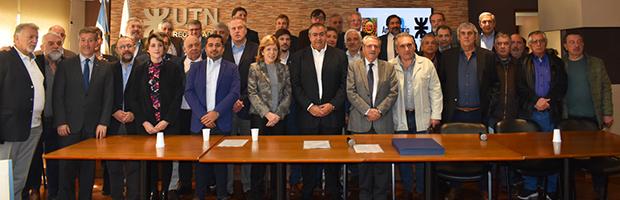Firma de documento entre rectores de universidades públicas y la CGT