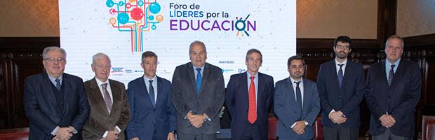 El presidente participó del Foro de Líderes por la Educación