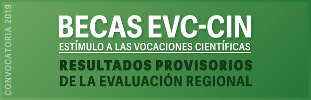 Becas EVC-CIN 2019. Resultados provisorios de la evaluación regional completos