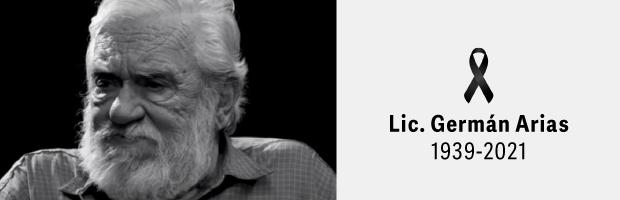 Condolencias por el deceso del Lic. Germán Arias