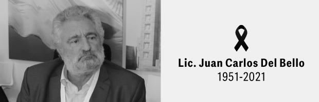 Condolencias por el deceso del Lic. Juan Carlos Del Bello